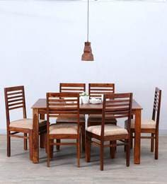 Winlock Six Seater Dining Set In Honey Oak Finish