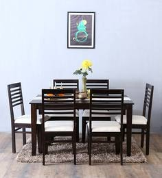 Winona Ivy Six Seater Dining Set In Warm Chestnut Finish