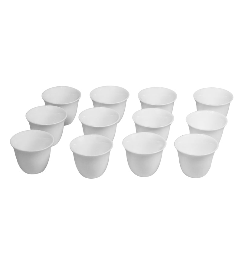 Wilmax England Porcelain 75 ML Arabic Style Coffee Cup - Set Of 12