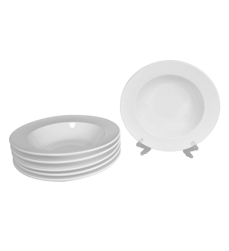 Wilmax England Porcelain Deep Plate - Set Of 6