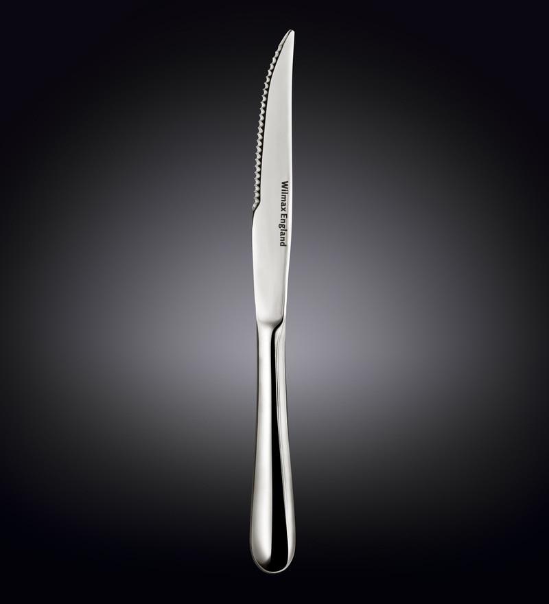 Wilmax England Stainless Steel Steak Knives - Set of 6