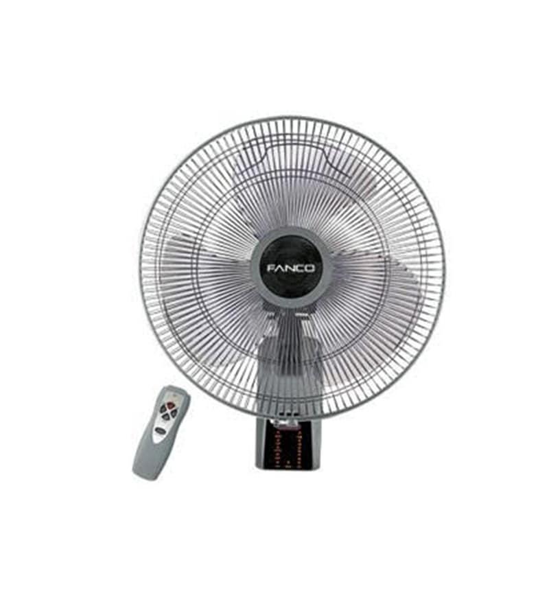 Windkraft 400 Mm Silver & Black Wall Fan with Remote