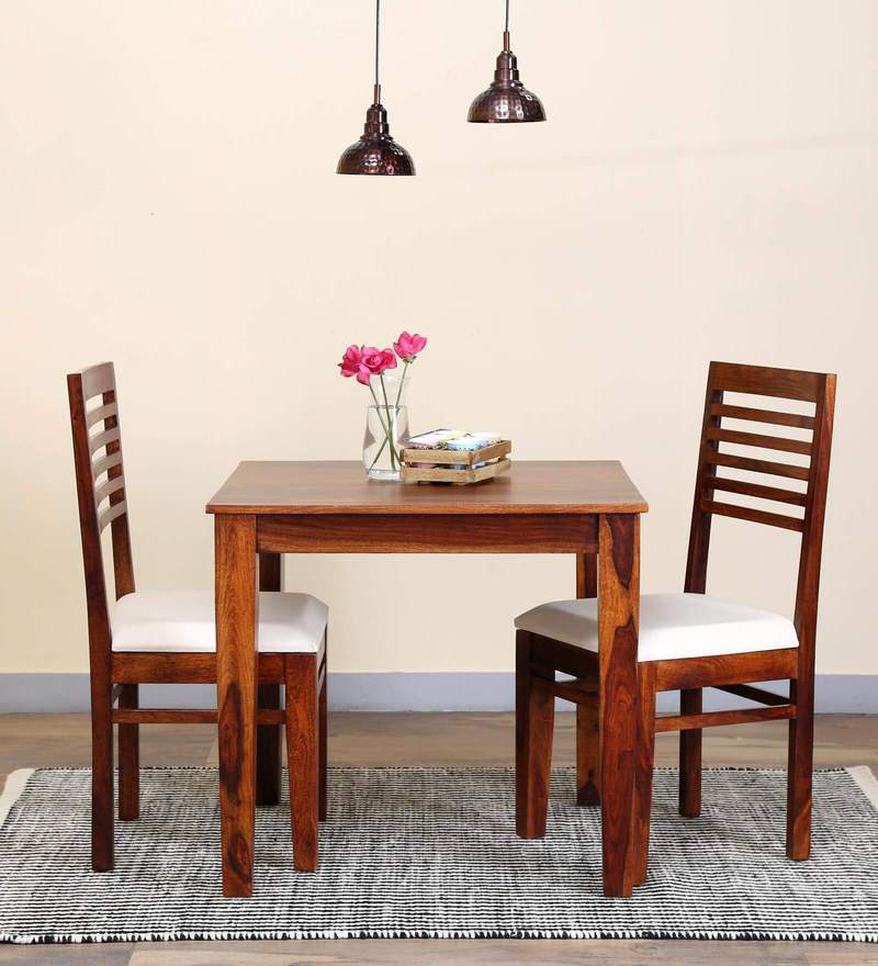 Winona Ivy Two Seater Dining Set in Honey Oak Finish by Woodsworth