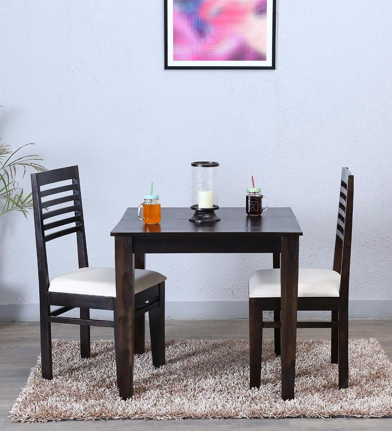 Winona Ivy Two Seater Dining Set in Warm Chestnut Finish by Woodsworth