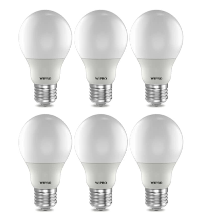 Wipro Warm White 3 W E27 LED Bulb - Set of 6