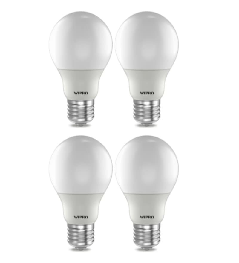 Wipro Warm White 7 W E27 LED Bulb - Set of 4