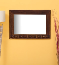 Woodway Rectangular Wall Mirror In Solid Wood Frame In Provincial Teak Finish