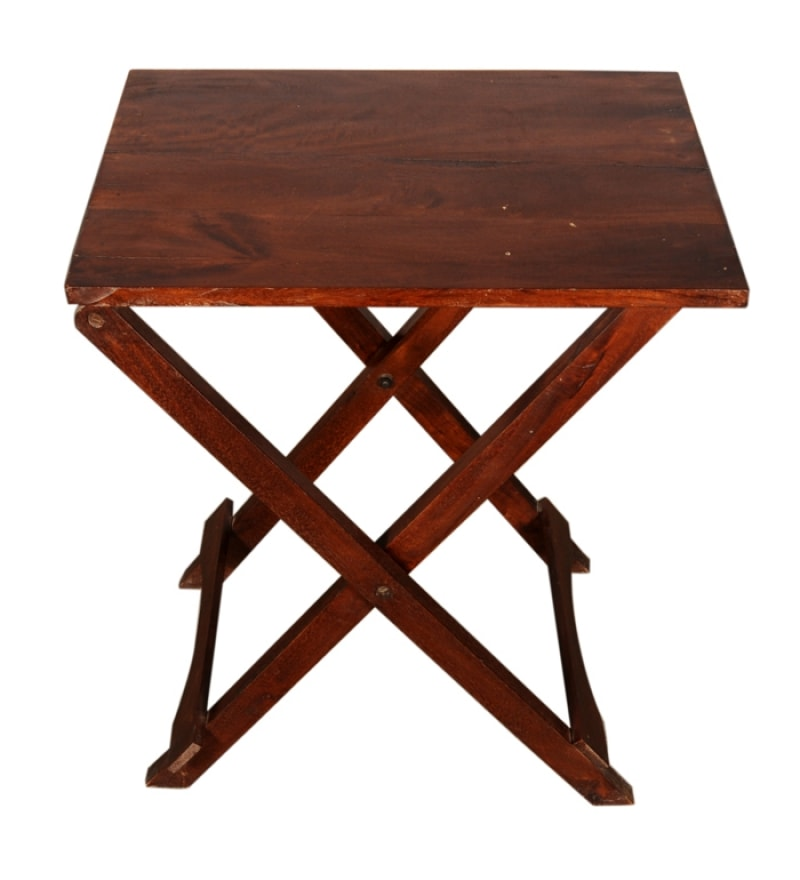 Wooden Folding Table With Tray By Mudramark Online