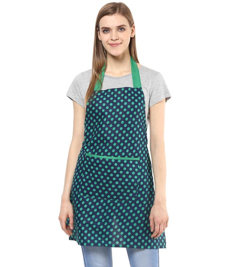 Wobbly Walk Polka Dots Cotton Kitchen Apron
