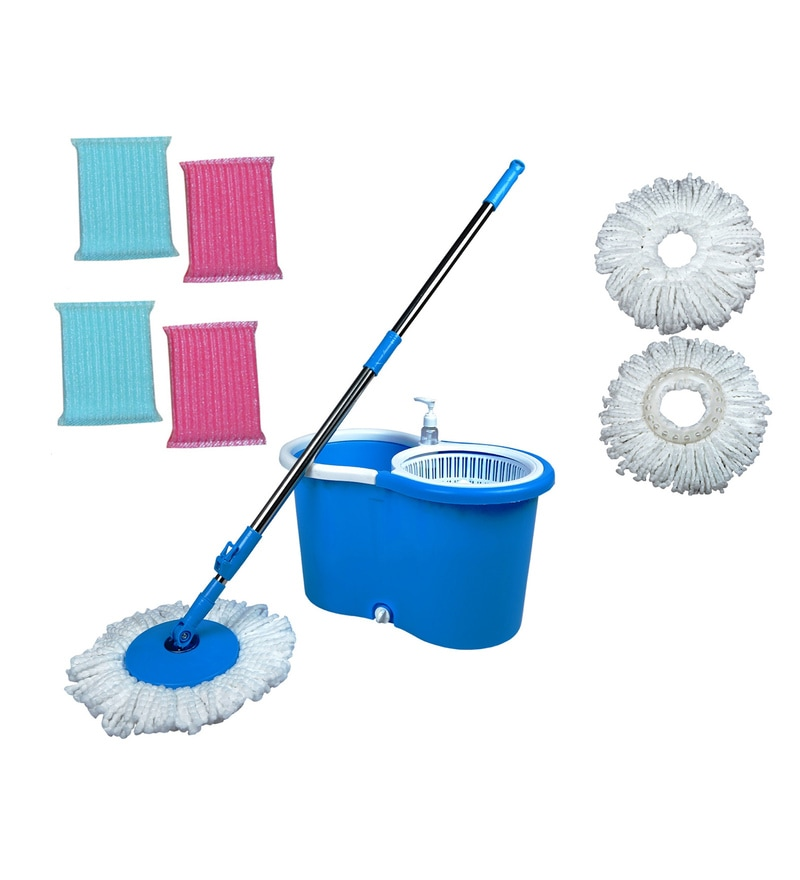 Wonder Blue Light Wheel Spin Mop Set