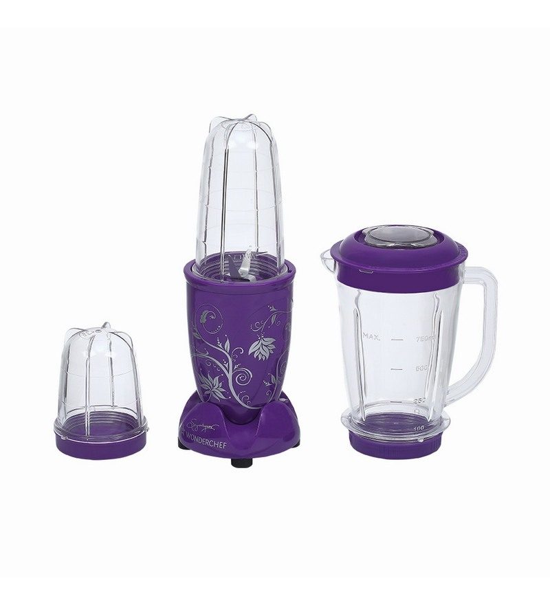 Wonderchef Nutri-Blend Purple with Jar Juicer Mixer Grinder