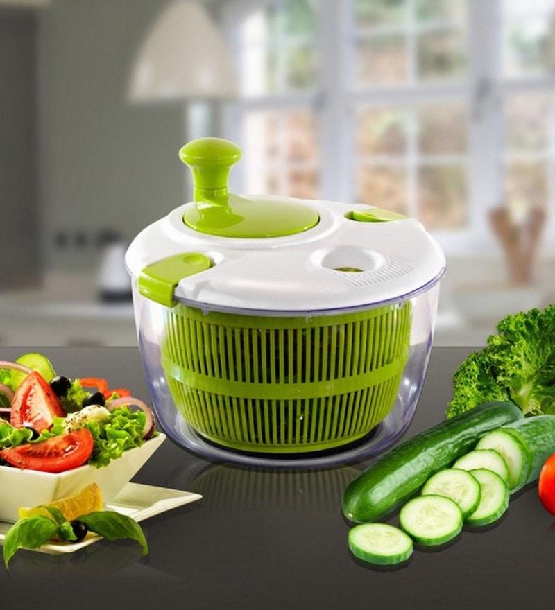 Wonderchef Green Vegetable Cleaner & Salad Spinner