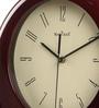 Brown Glass & MDF 11.8 x 1.5 x 14.6 Inch Wall Clock by Wood Craft