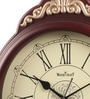 Wood Craft Brown Glass & MDF 12.4 x 1.5 x 15.9 Inch Wall Clock