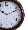 Wood Craft Brown Glass & MDF 12.8 Inch Round Wall Clock