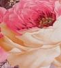 Multicolour Nature & Florals Cotton Queen Size Bed Sheets - Set of 3 by Wraps N Drapz