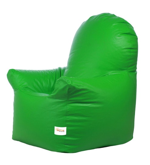 Enjoyable Classic Xxxl Bean Bag With Beans In Neon Green Colour By Sattva Machost Co Dining Chair Design Ideas Machostcouk