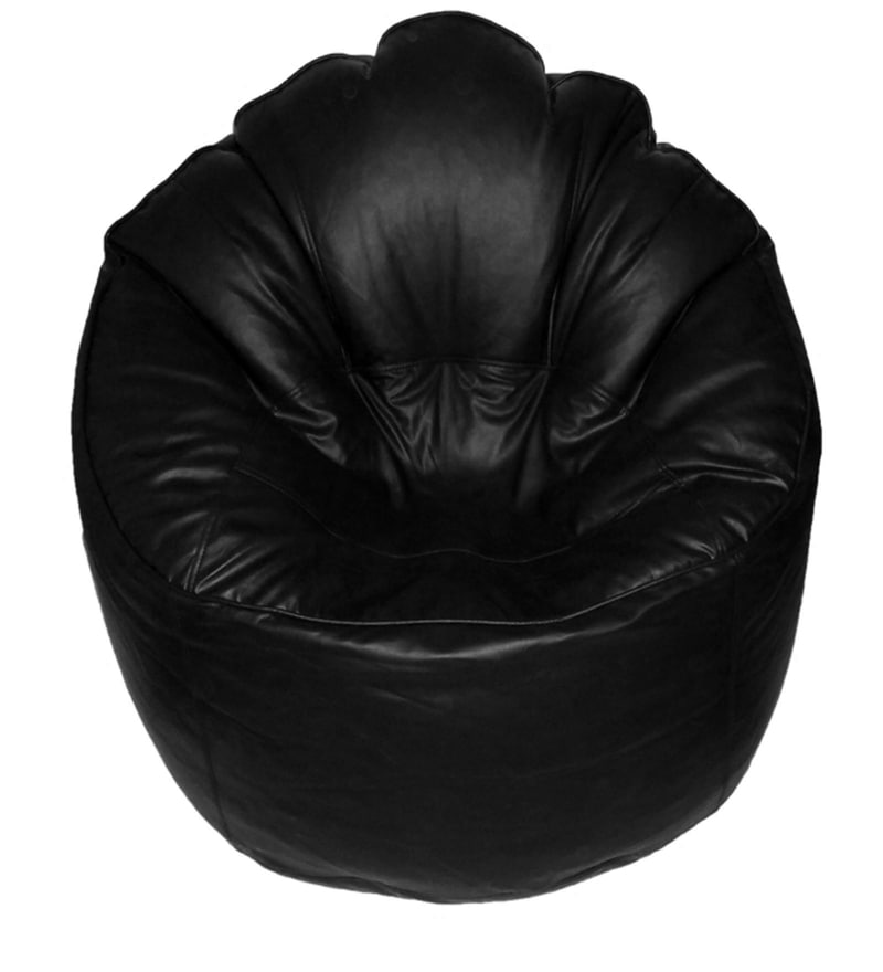XXXL Bean Bag Sofa (With Beans) in Black Colour by Feel Good