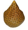 Printed XXL Bean Bag with Beans in Black & Yellow by TJAR