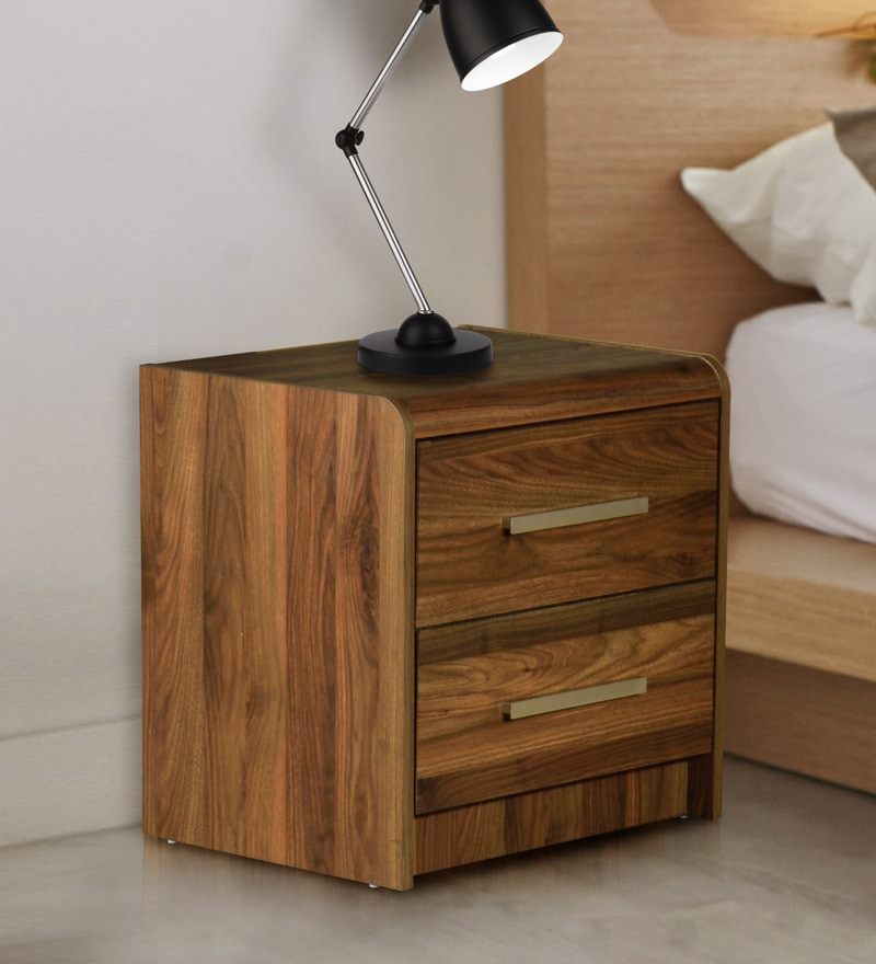 Buy Robinson Bedside Table In Brown Finish By Durian Online Modern