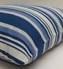 Yamini Blue & White Cotton 16 x 16 Inch Nautical Stripes Cushion Cover