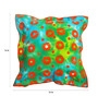Yamini Multicoloured Cotton 16 x 16 Inch Batik with Double Flange Cushion Cover