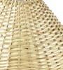 Off-white Cane Wood Lamp Shade by Yashasvi
