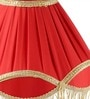 Yashasvi Red Poly Cotton Lamp Shade