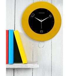 Yellow MDF 12 X 12 Inch Wall Clock
