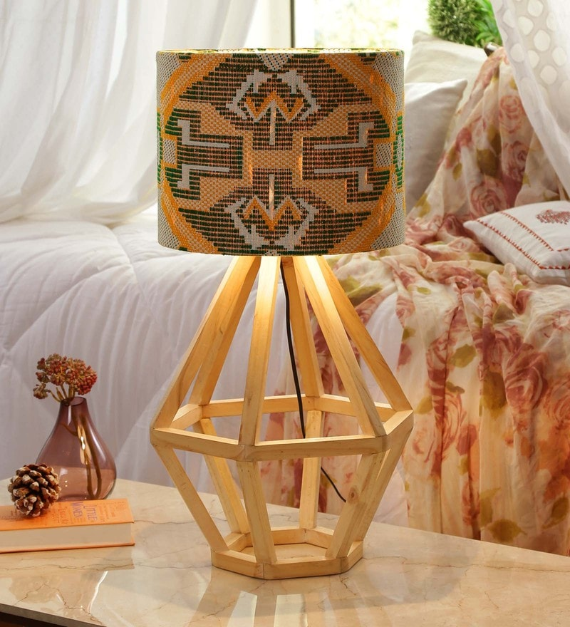 Yellow & Green Fabric Table Lamp by Grated Ginger