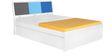 Young America Queen Bed in Multicolor by Alex Daisy