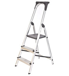 Youngman Upgrade Aluminium 3 Steps 4.1 FT Ladder With Upper Tool Kit