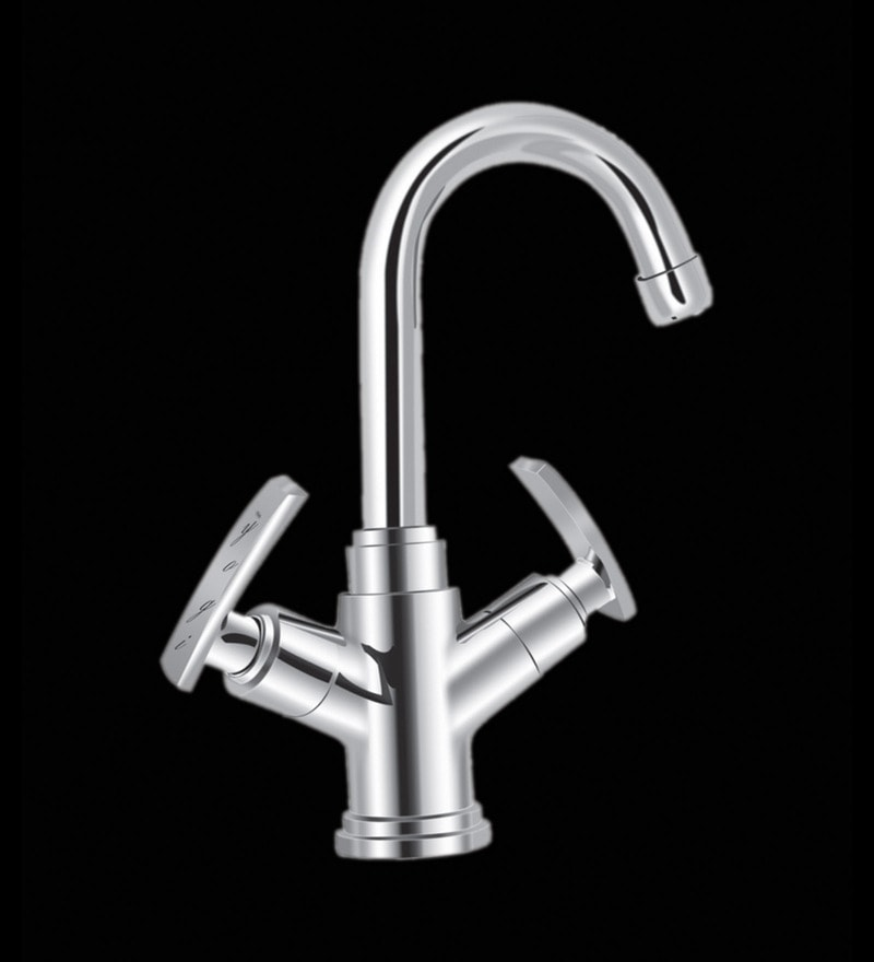 Yogi Leon Silver Brass 2 in 1 Basin Mixer