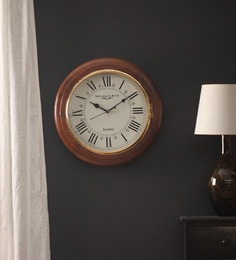 Vintage clocks buy vintage clocks online in india at best prices brown wood wall clock gumiabroncs Gallery
