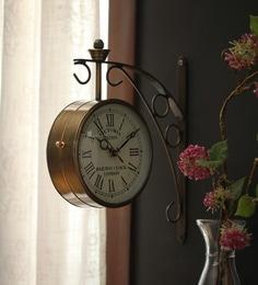 zahab gold iron 9 x 5 x 12 inch victoria double sided wall clock