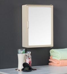 zahab mini single door plastic cabinet cream