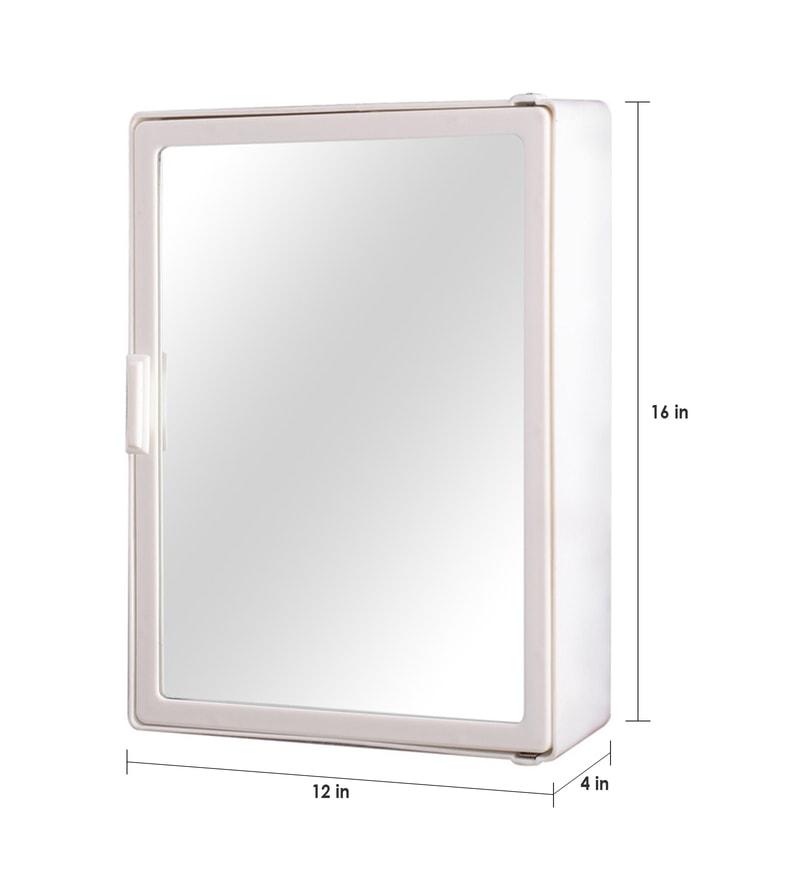 Buy zahab medium single door plastic cabinet white online for Zahab bathroom cabinets