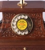 Brown Brass & Wood Maharaja with Drawer Retro Telephone by Zahab