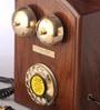 Brown Wooden Rhombus Maharaja Retro Telephone by Zahab