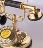 Gold Brass Flower Maharaja Retro Telephone by Zahab