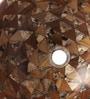 Zahab Round Fusion Multicolour Wood and Resin  Wash Basin (Model: T4-178)