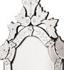 Abdullah Decorative Mirror in Silver by Amberville