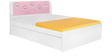 Zest Queen-Size Bed in Pink Colour by Alex Daisy