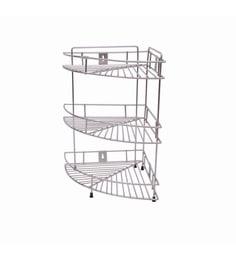 Zecado 10 X 10 Inch 3 Tier Electroplated Kichen Corner Shelf