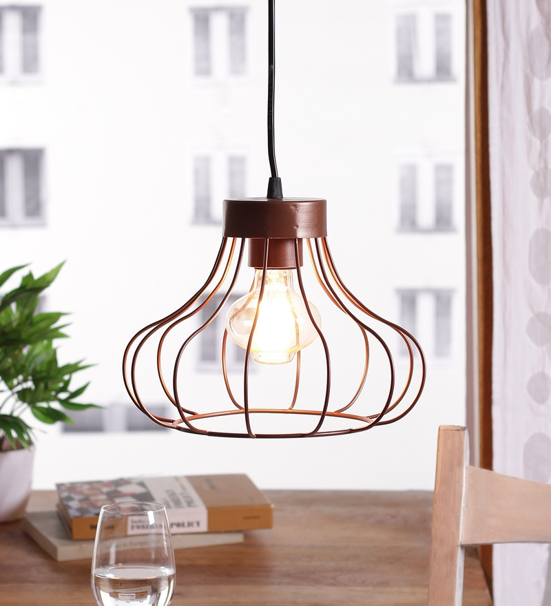 The Brighter Side  Mild Steel Filament Lamp