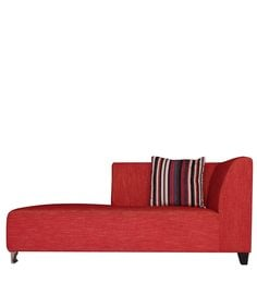 Zurich LHS Two Seater Chaise In Red Colour
