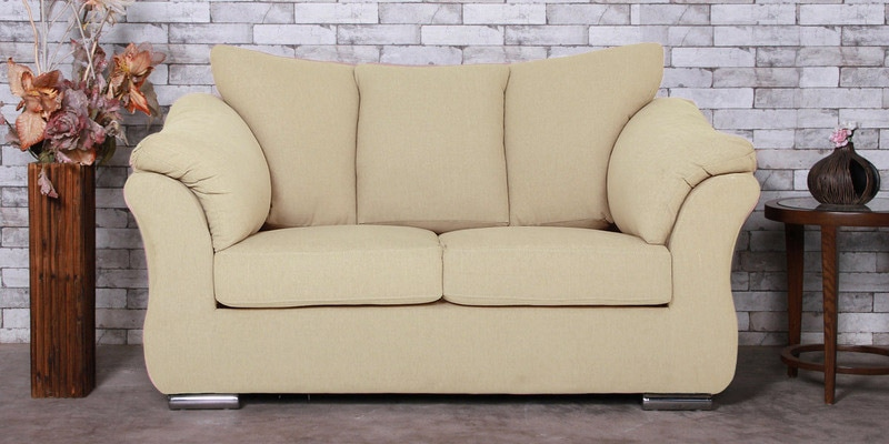 Zulia Two Seater Sofa in Beige Color by CasaCraft