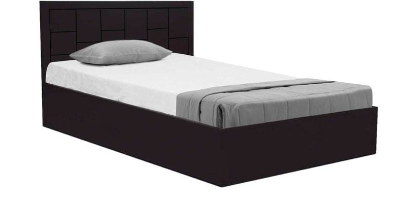 Buy zuwei diwan single bed with storage in matte finish by for Diwan bed with storage