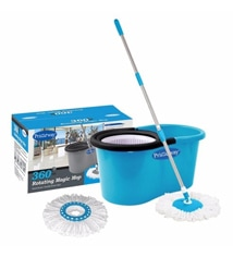 Primeway 360 Degree Rotating Magic Spin Mop Set with 2 Mop Heads